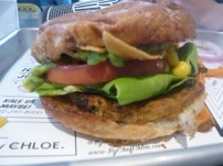 The guac burger. Love the guac and tortilla strips. The black bean/quinoa/sweet potato patty is better than I expected.