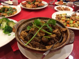 Lamb claypot; we always get this one at dinner. pure comfort food.