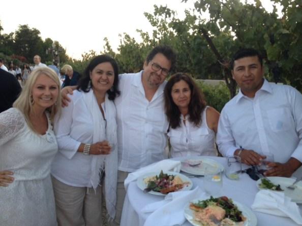 Susie Albin-Najera, Hilda Pacheco-Taylor (CDV), Rick Najera, Guest, and Jorge Fonseca