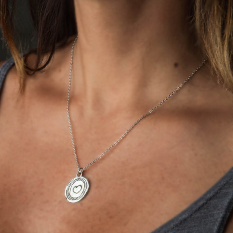 Heart to Heart Stirling Silver Necklace from Corazon de Vida