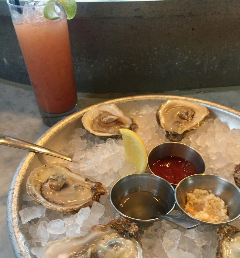 House oysters and paloma, Darling Oyster Bar, Charleston