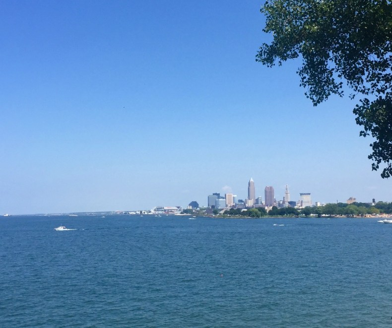 View of Cleveland from the lake