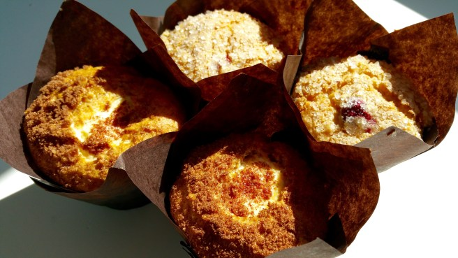 Pumpkin Cream Cheese and Cranberry Orange Muffins