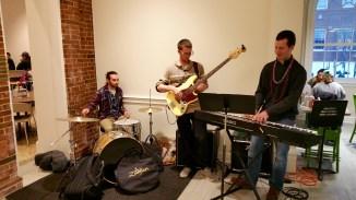 Students providing live music.