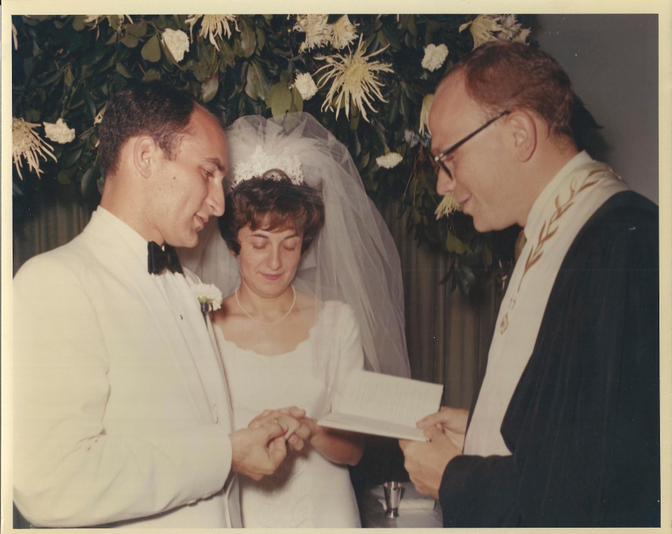 Sid and Elka, August 21,1968. Marriage performed by Rabbi Mehlman