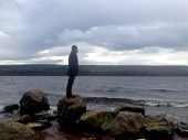 Drew looking for Nessie at Loch Ness