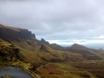 Quiraing on Isle of Skye, we didn't actually do the hike as Ryan, Drew and I are like children and didn't want to hike. Also it was hailing.