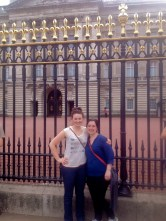 Christa and I in front of Buckingham Palace