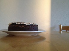 Guinness Stout cake with salted chocolate ganache and bailey's whipped cream