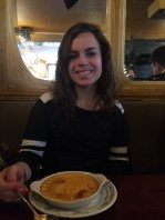 Hannah and her Creme Brulee