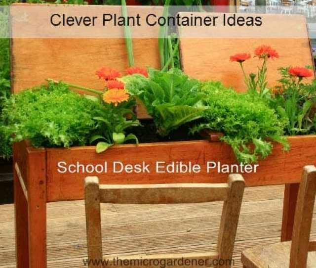 School Desk Edible Planter Just One Of Many Clever Plant Container Ideas Www