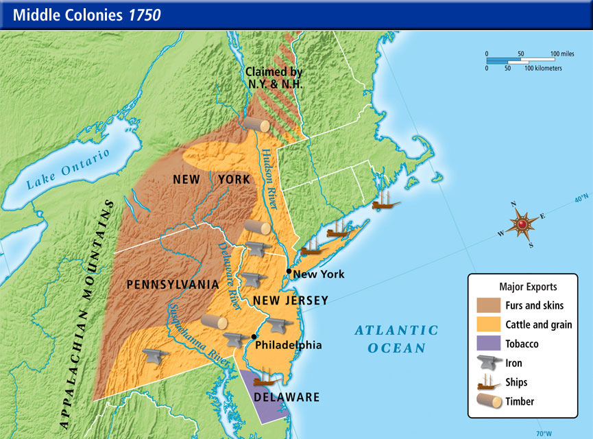 Natural Resources - The Middle Colonies