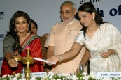 Mr Modi with Raveena Tandon
