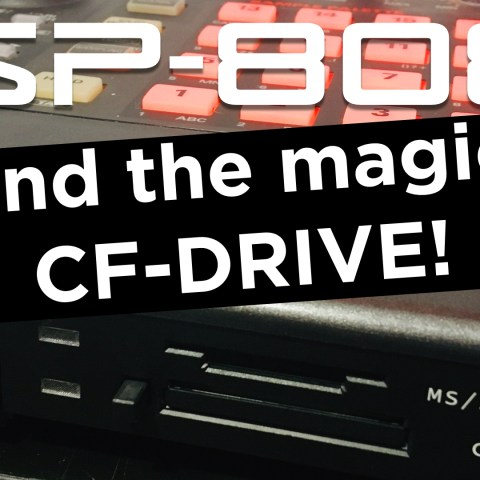 SP-808 and the magic CF-Drive