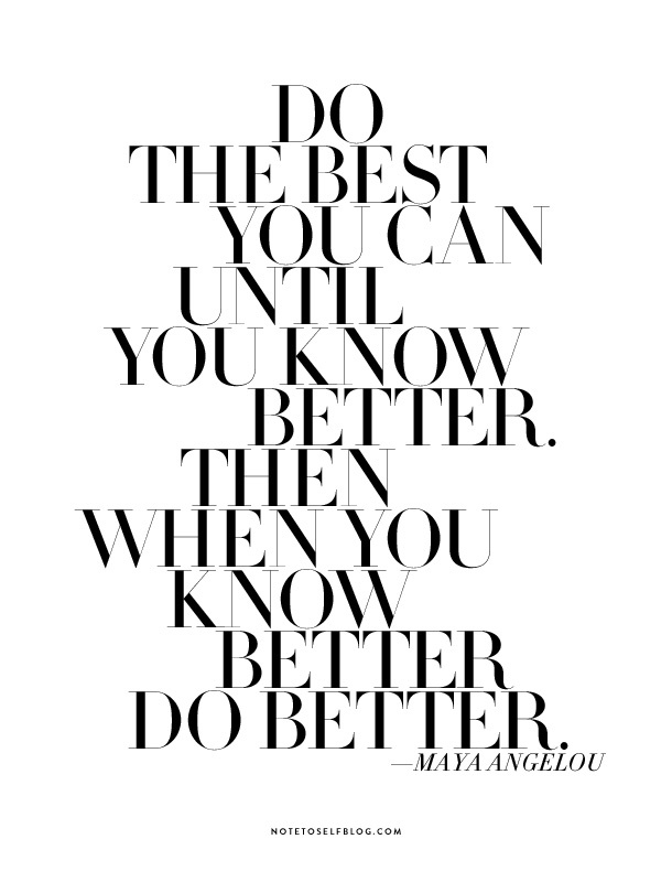 Thought of the Day: Try Your Best