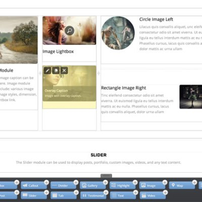 Themify Builder is super easy to use. To start: simply dorp in a module, configure the options and the actual content will appear instantly on the page. You can then rearrange the content block, rows, and grids by dragging. It works with static content (text, images, videos, etc.) and dynamic content such as displaying posts from the database or running shortcodes.