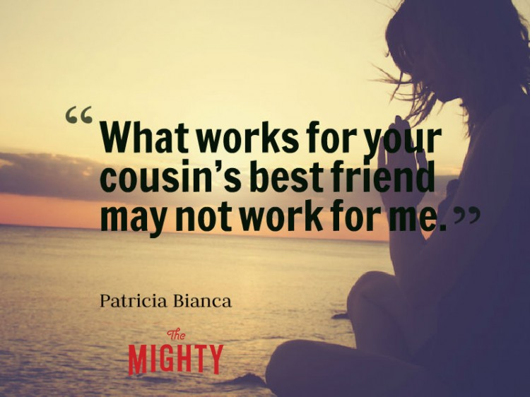 fibromyalgia meme: what works for your cousin's best friend may not work for me