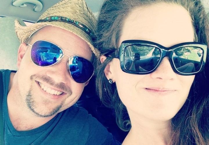 Jessica Offer and her husband, CJ