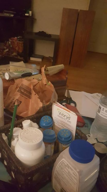 basket of painkillers and medications