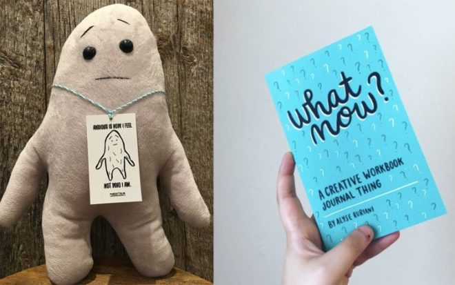 An anxiety blob and a workbook
