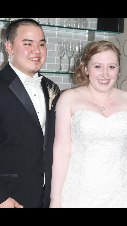 Christine and Thanh at their wedding.