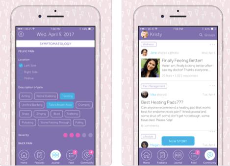 screenshots from flutter app