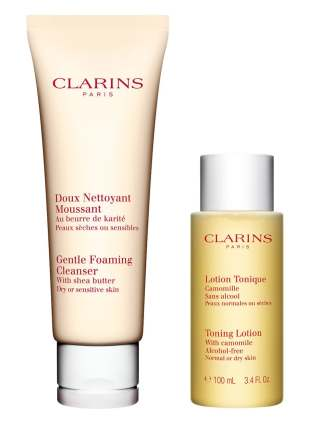 clarins cleansing duo for dry, sensitive skin