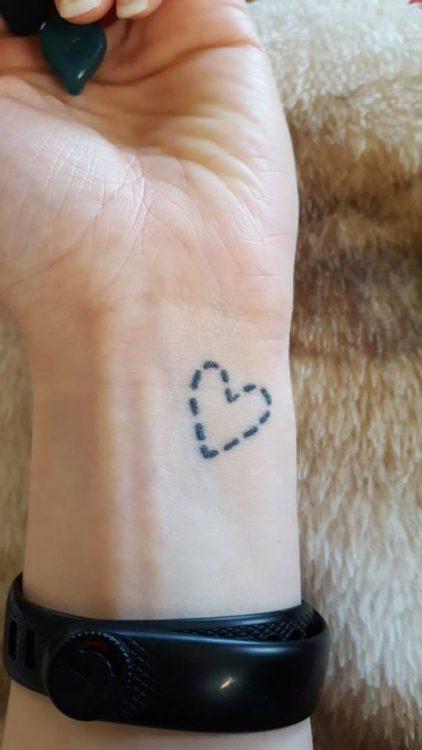 a tattoo of a heart