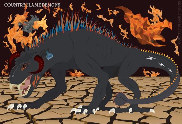 illustration of the CRPS beast