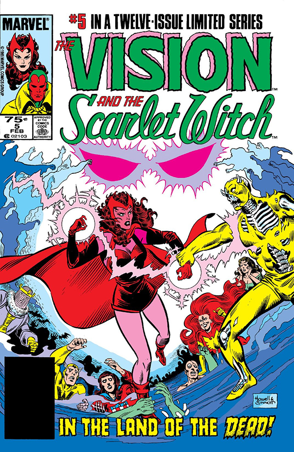 Couverture de The Vision and Scarlet Witch #5
