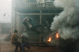 A Man Called Hero explosion/wire stunt