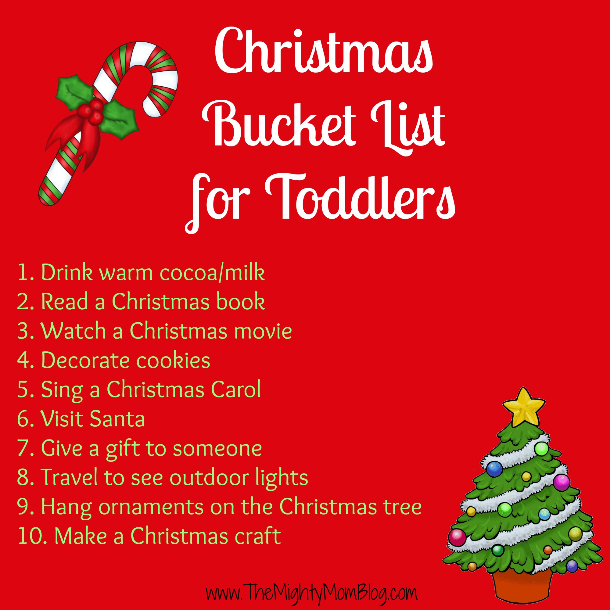 Christmas Bucket List For Toddlers