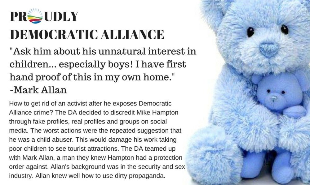 Democratic Alliance intimidation Mark Allan