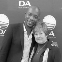Deputy Mayor Esme Edge and DA Leader Mmusi Maimane