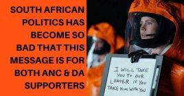 South African politics - message DA ANC