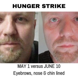 Hunger Strike Day 26 weight loss Mike Hampton