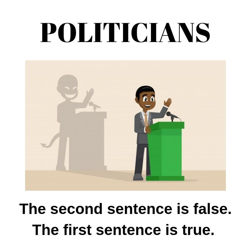 Politicians doublespeak paradox lies deception