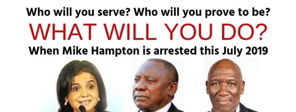 Shamila Batohi Bheki Cele Cyril Ramaphosa Democratic Alliance corruption Mike Hampton arrest