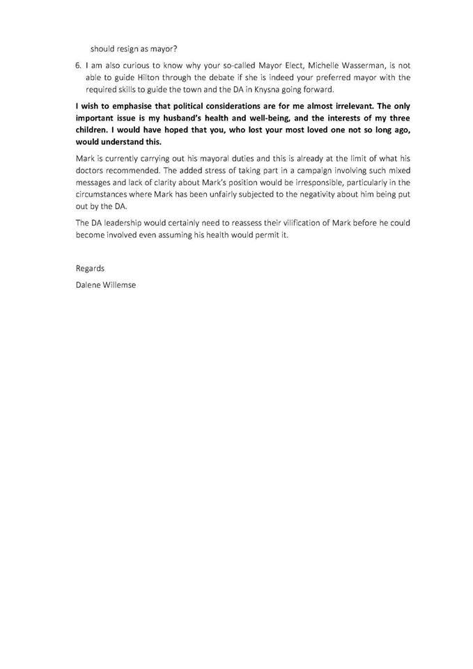 2019.09.15a3 Dalene Willemse DA resignation letter 2019.08.08