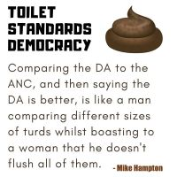 Toilet Standard Democracy - Democratic Alliance versus African National Congress