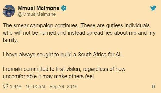 2019.09.29 Mmusi Maimane responds to attack to discredit him