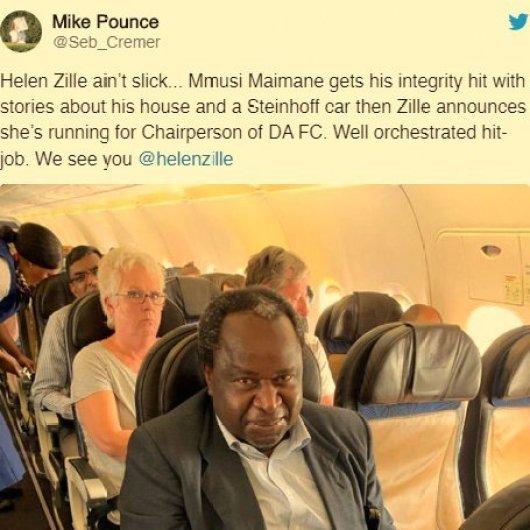 2019.10.04 Helen Zille vs Mmusi Maimane - tweet Mike Pence