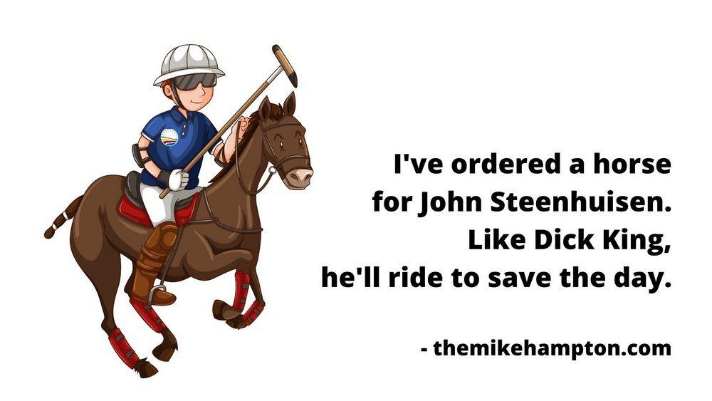 Democratic Alliance leader race with John Steenhuisen as Dick King