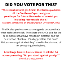 Ask the DA about Garden Route gas rigs