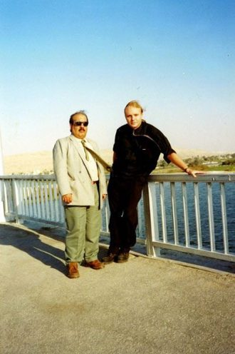 Mike Hampton with Tariq in Egypt 1999