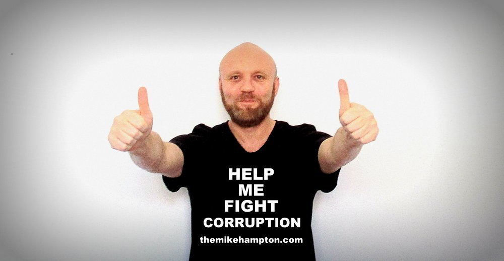 Help me fight corruption - donate to Mike Hampton