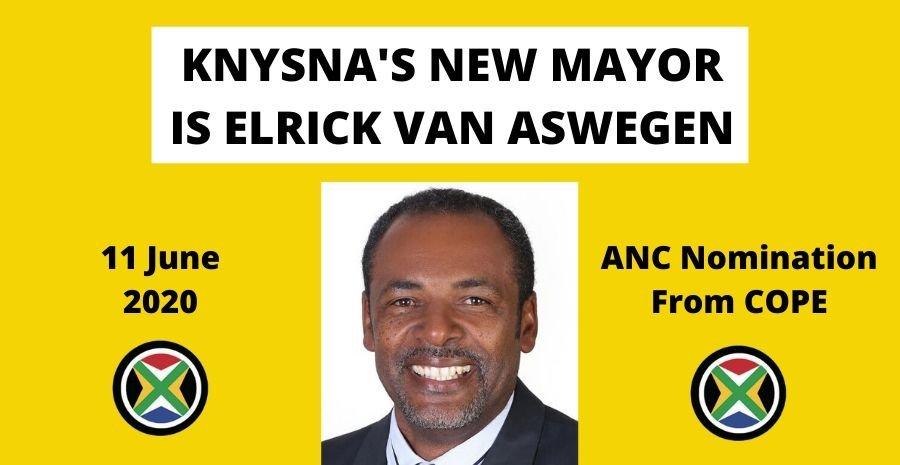 Elrick van Aswegen is elected Knysna Mayor 11 June 2020
