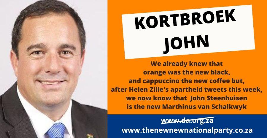 Kortbroek John Steenhuisen fails to stand up to Helen Zille again