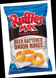 Ruffles Max beer batter onion rings
