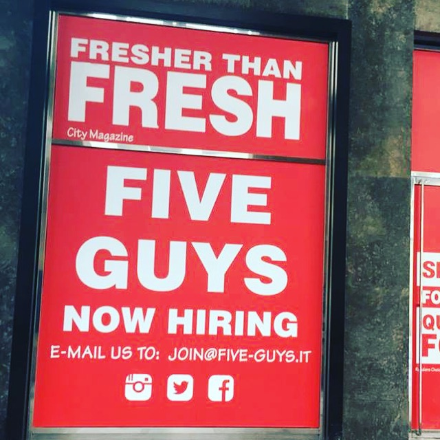 Five Guys Burger to open soon in Milan